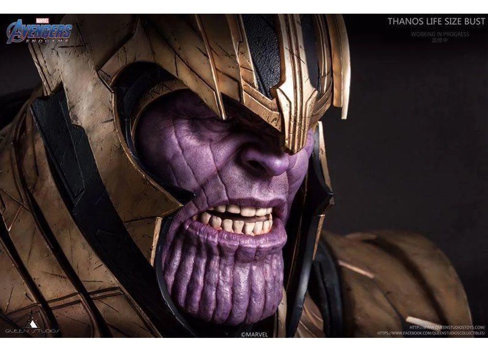PRÉ-VENDA Busto Thanos: Vingadores Ultimato (Avengers End Game) Escala 1/1 - Queen Studios