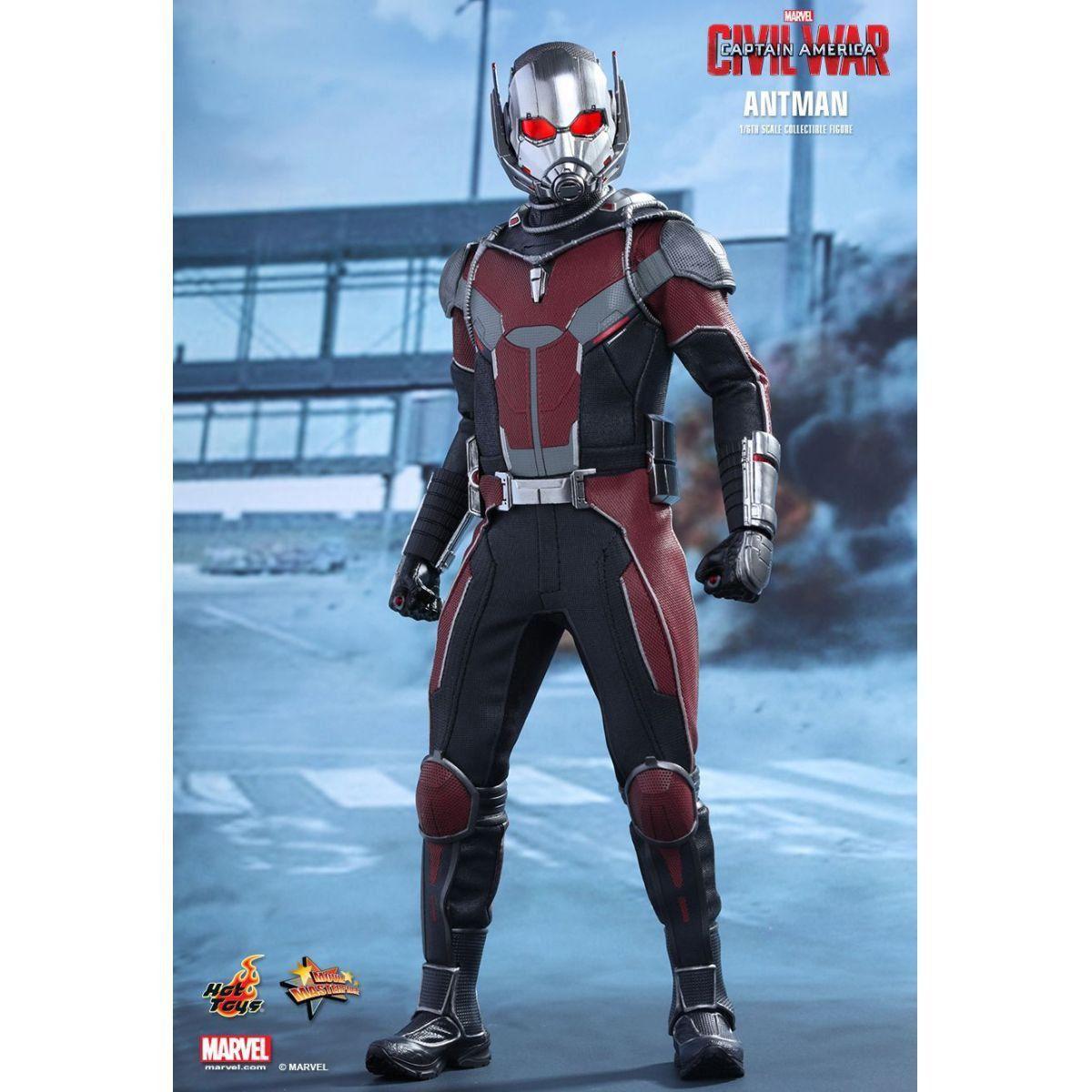 Action Figure Homem Formiga Ant-Man Capitão América Guerra Civil Civil War Escala 1/6 MMS362 Marvel - Hot Toys