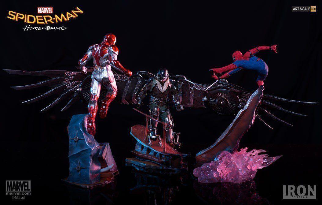 PRÉ VENDA: Estátua Abutre (Vulture): Homem-Aranha De Volta ao Lar (Spider-Man Homecoming) Battle Diorama Series (BDS Art Scale Escala 1/10 - Iron Studios