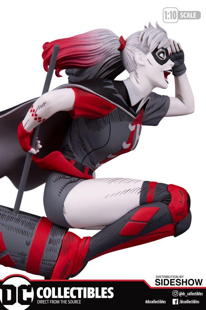 PRÉ VENDA: Estátua Arlequina (Harley Quinn): Harley Quinn #58 (Red, White & Black) Guillem March - DC Direct