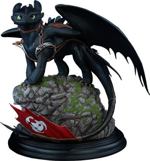 PRÉ VENDA: Estátua Banguela (Toothless): Como Treinar Seu Dragão (How to Train Your Dragon) - Sideshow