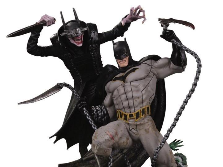 PRÉ VENDA: Estátua Batalha O Batman Que Ri Vs. Batman (The Batman Who Laughs Vs. Batman) (Limited Edition) - DC Direct