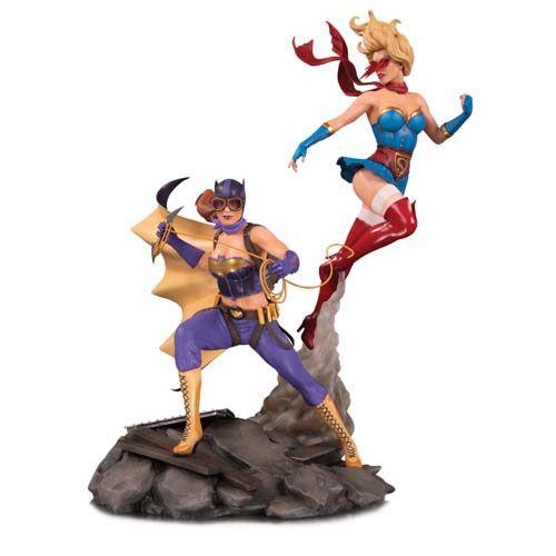 Estátua Batgirl e Supergirl: Bombshells (DC Comics) Celebration Edition - DC Collectibles