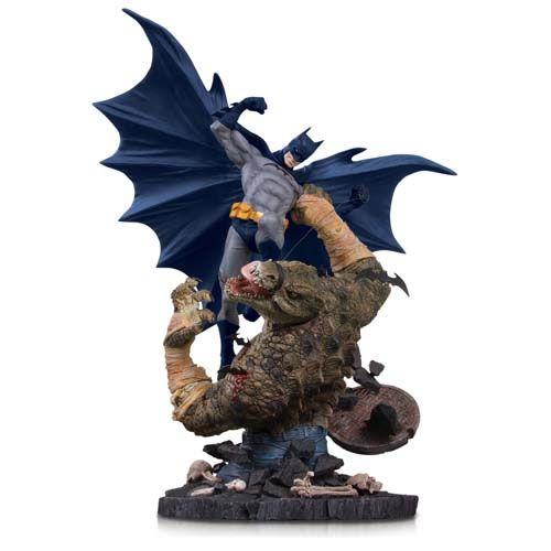 Estátua Batman vs Killer Croc: O Cavaleiro das Trevas (The Dark Knight) Limited Edition (Mini Battle) - DC Collectibles