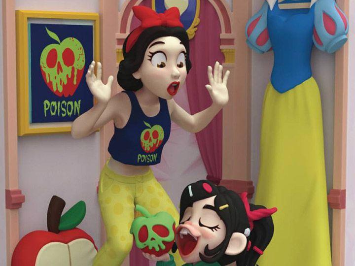 PRÉ VENDA Estátua Branca de Neve e Vanellope: WiFi Ralph - Quebrando a Internet (Ralph Breaks The Internet) DS-026 (Disney) - Beast Kingdom