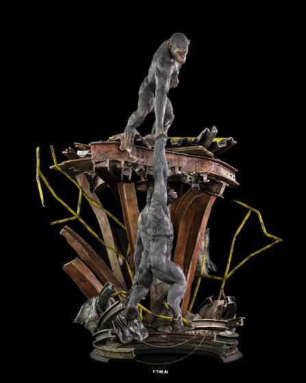 PRÉ VENDA: Estátua Caesar e Koba: Planeta dos Macacos O Confronto (Dawn of the Planet of the Apes) Escala 1/5 - Tsume Arts