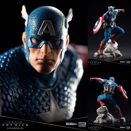 PRÉ VENDA Estátua Capitão América (Captain America): Marvel Comics (ArtFX Premier) 1/10 - Kotobukiya