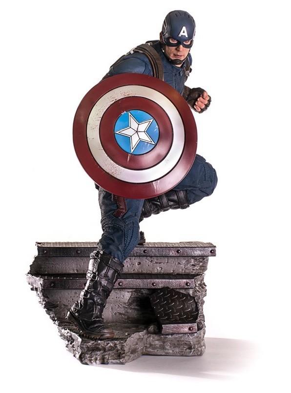 Estátua Capitão América e Homem Formiga (Ant-Man): Capitão América Guerra Civil Legacy Réplica Escala 1/4 - Iron Studios