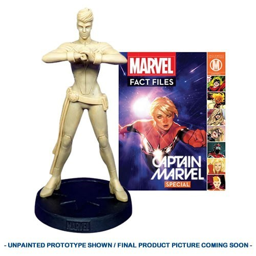 PRÉ VENDA: Estátua Captain Marvel (Capitã Marvel): Marvel Fact Files Magazine Classic Special #32 - Eaglemoss Publications