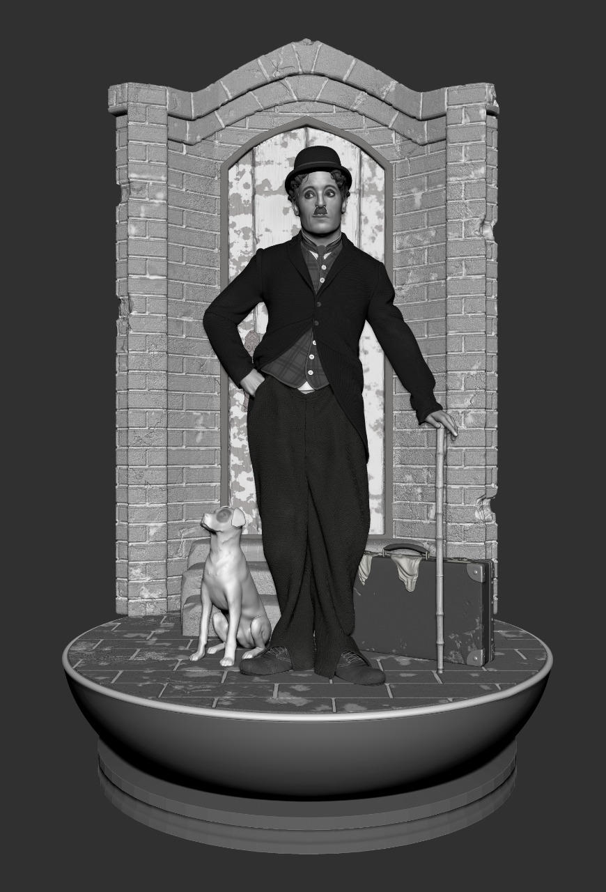 PRÉ VENDA: Estátua Charles Chaplin Premium Edition Escala 1/4 - Fanatic Studios