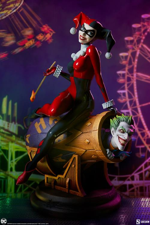 PRÉ VENDA: Estátua Dioma Arlequina Harley Quinn e Coringa Joker DC Comics Escala 1/6 - Sideshow Collectible