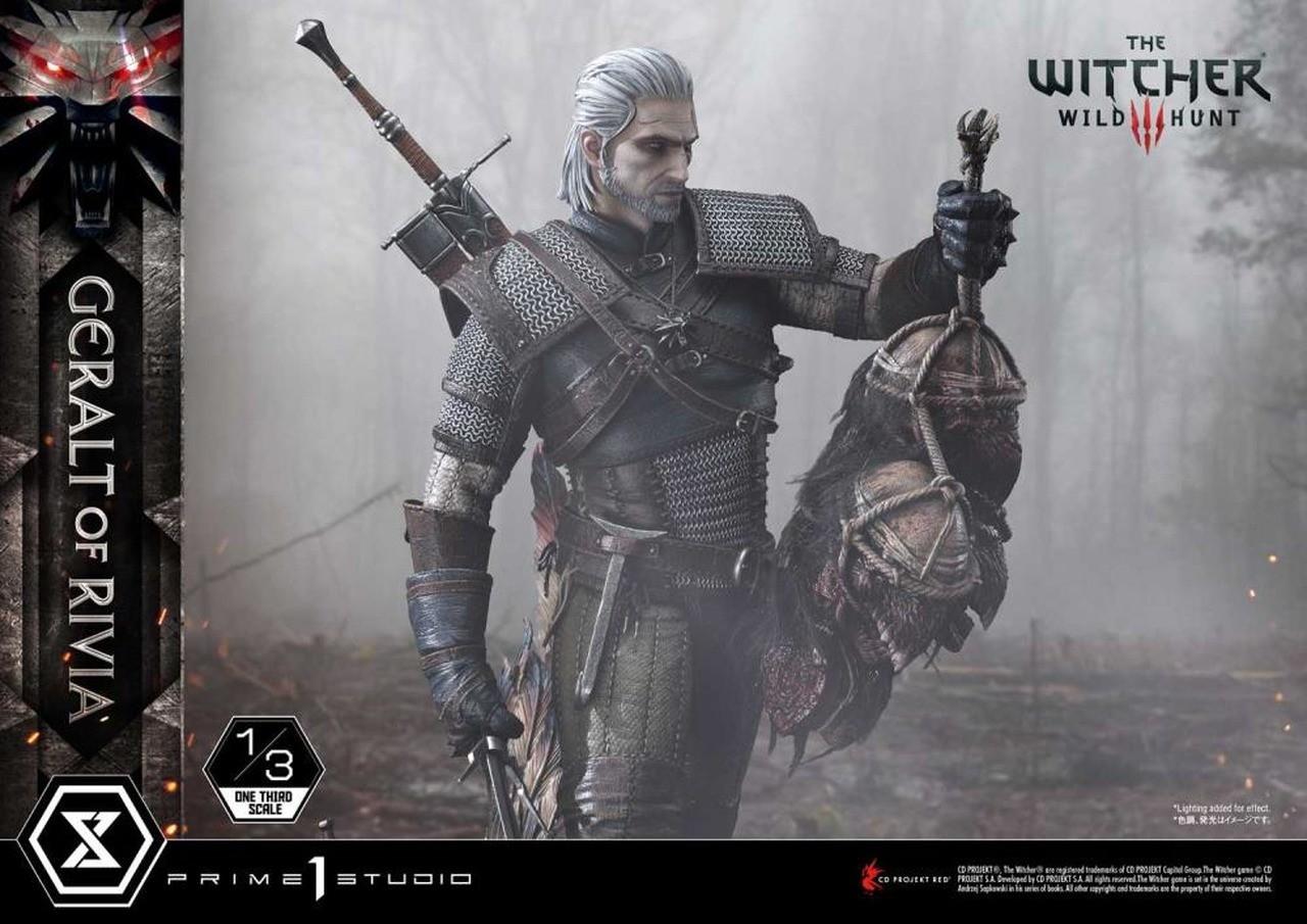 PRÉ VENDA: Estátua Geralt de Rivia Geralt of Rivia: The Witcher 3 Wild Hunt Museum Masterline Escala1/3 - Prime 1 Studio