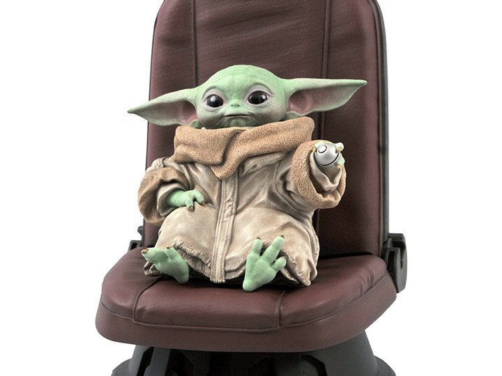 Estátua Grogu Baby Yoda The Child In Chair Escala 1/2 Star Wars The Mandalorian - Diamond Select Toys - EV