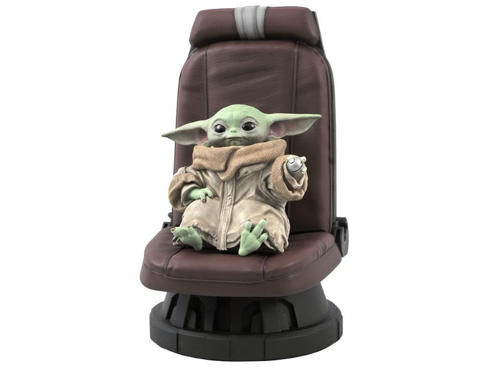 Estátua Grogu Baby Yoda The Child In Chair Escala 1/2 Star Wars The Mandalorian - Diamond Select Toys - EV