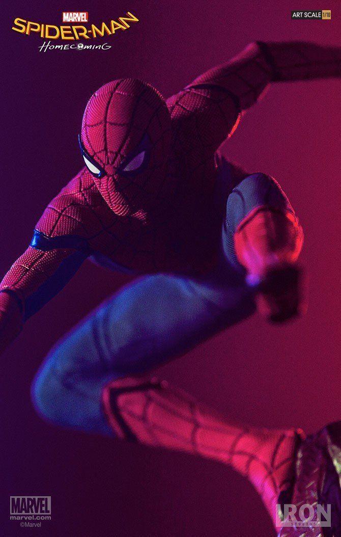 PRÉ VENDA: Estátua Homem-Aranha (Spider-Man): Homem-Aranha De Volta ao Lar (Spider-Man Homecoming) Battle Diorama Series (BDS)  Art Scale Escala 1/10 - Iron Studios