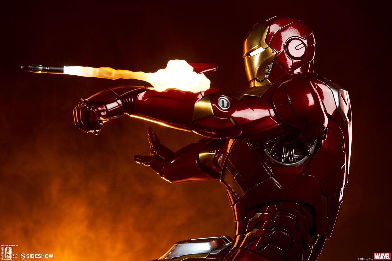 PRÉ-VENDA Estátua Homem de Ferro (Iron Man Mark VII) Maquette: Vingadores (The Avengers) - Sideshow Collectibles