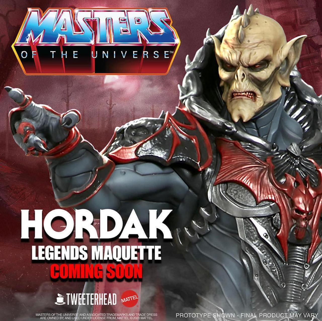 PRÉ VENDA: Estátua Hordak: Mestres do Universo (Masters of the Universe) - Maquette escala 1/5 - Edição Padrão - Tweeterhead - EV
