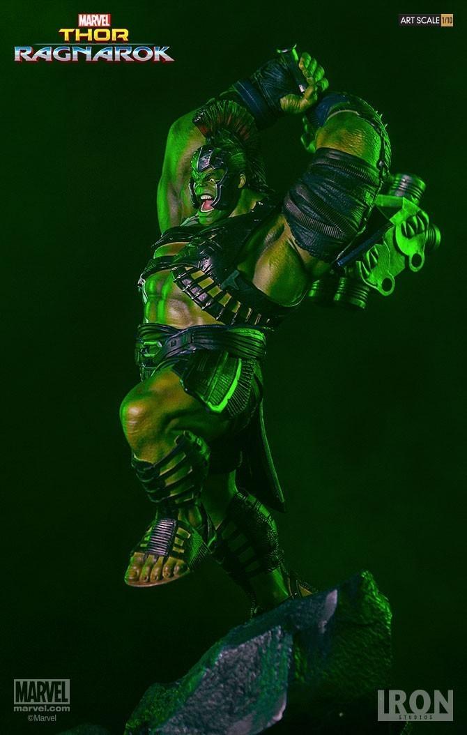 Estátua Hulk Gladiador (Gladiator): Thor Ragnarok Battle Diorama Series (BDS) Art Scale Escala 1/10 - Iron Studios