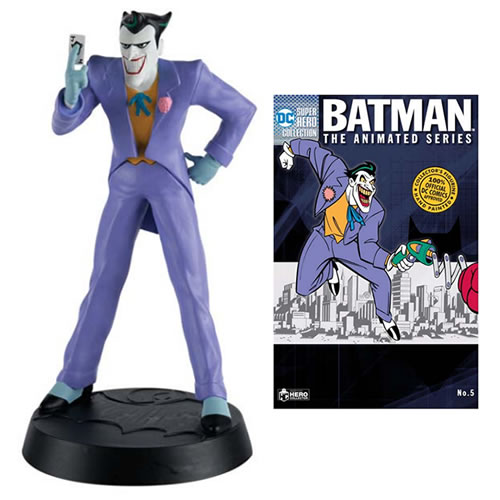 PRÉ VENDA: Estátua Joker (Coringa) Batman The Animated Series: DC Super Hero Collection #05 Escala 1/16 -  Eaglemoss Publications