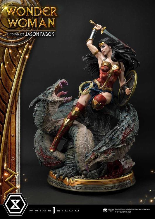 PRÉ VENDA: Estátua Mulher Maravilha Wonder Woman Vs. Hydra: Museum Masterline Dc Comics - Prime 1 Studios