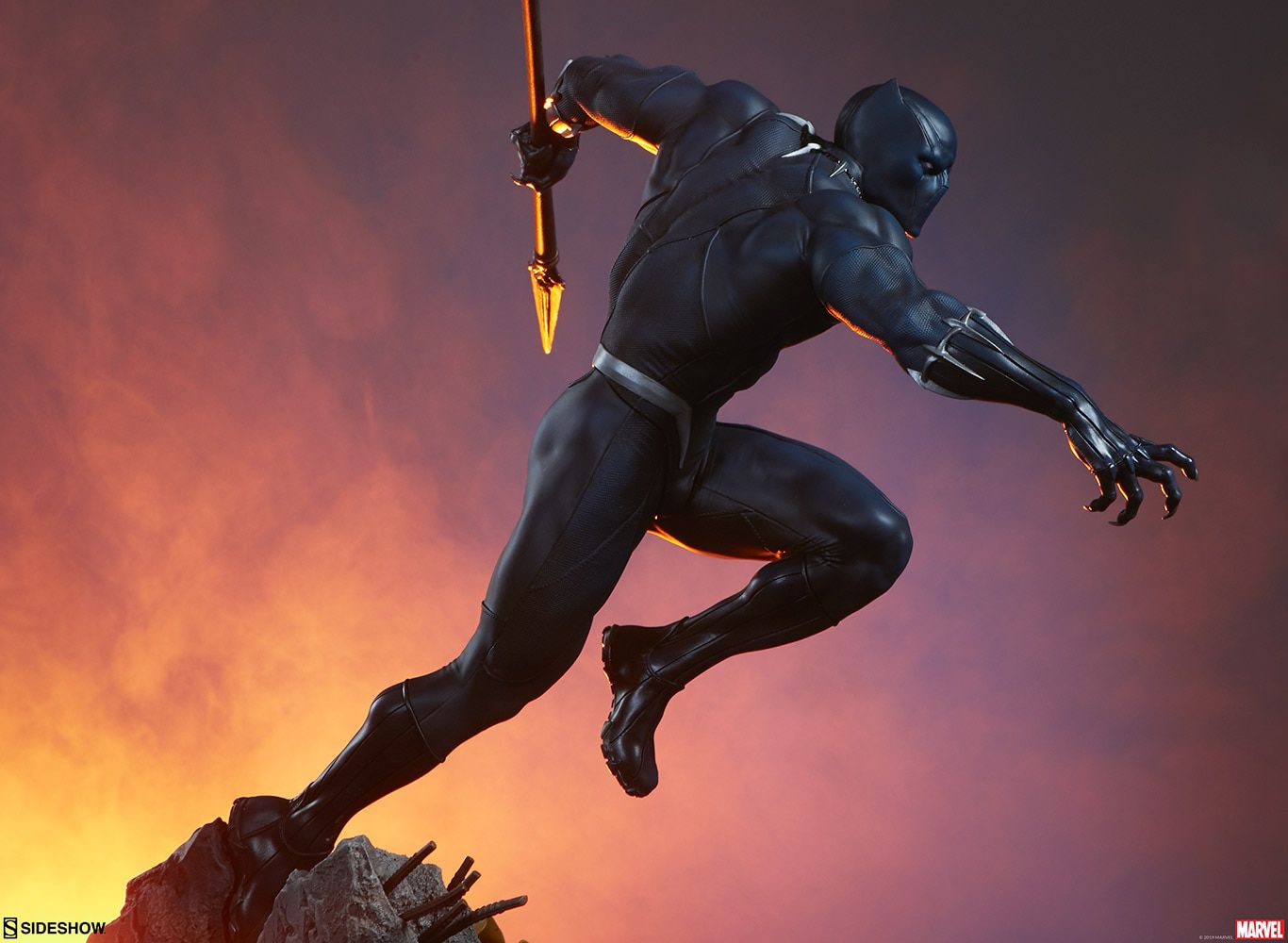 PRÉ VENDA: Estátua Pantera Negra (Black Panther): Marvel Avengers Assemble Collection - Sideshow