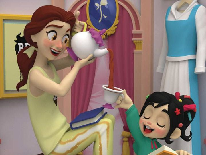 PRÉ VENDA Estátua Princesa Bela e Vanellope: WiFi Ralph - Quebrando a Internet (Ralph Breaks The Internet) DS-024 (Disney) - Beast Kingdom