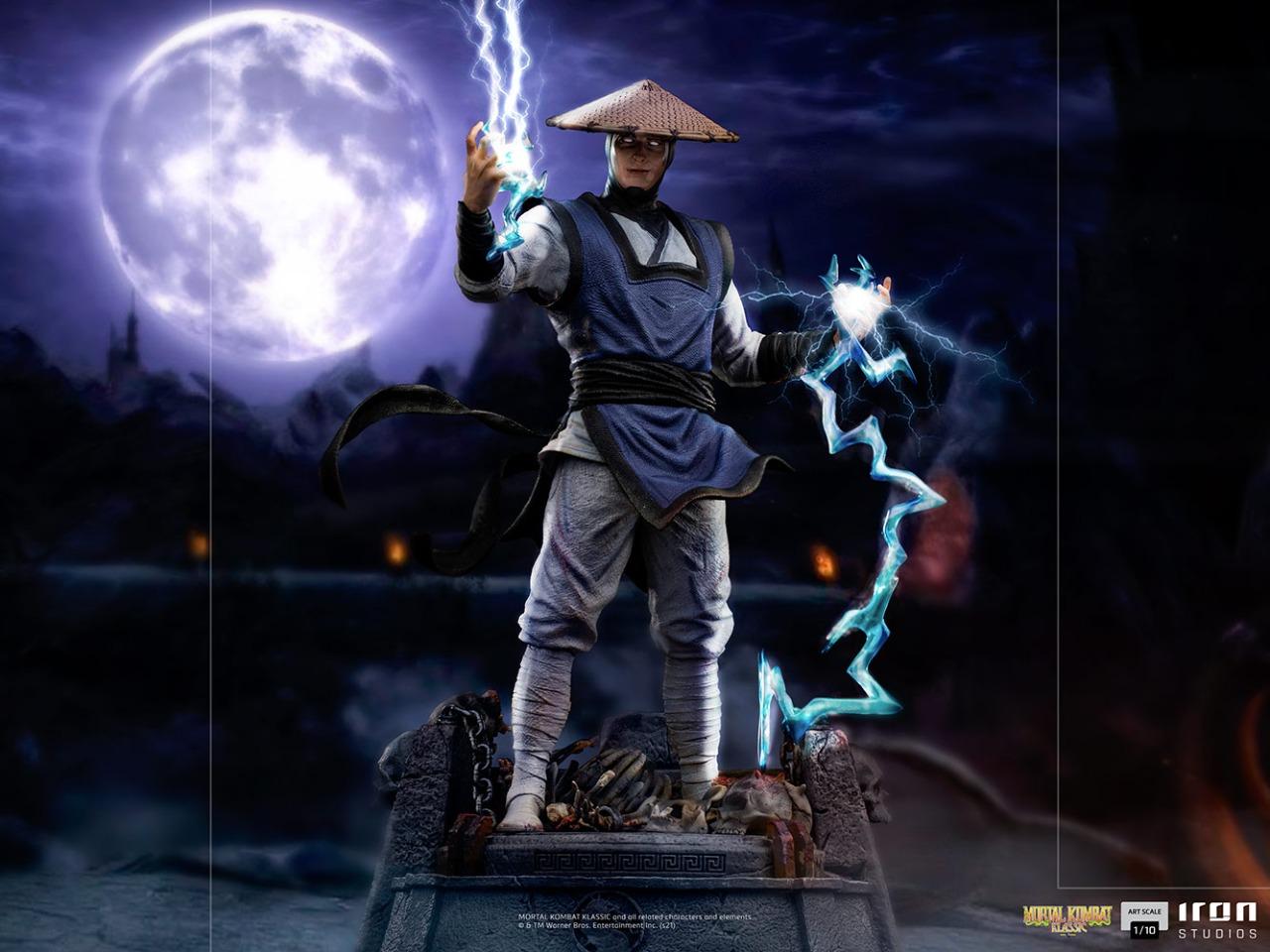 PRÉ VENDA: Estátua Raiden Mortal Kombat Klassic Escala 1/10 - Iron Studios