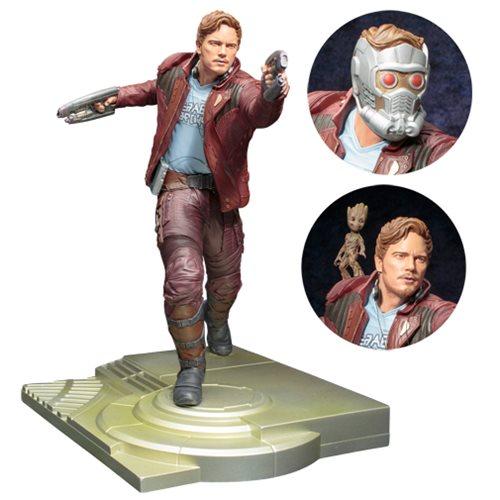 Estátua Senhor das Estrelas com Groot (Star-Lord with Groot): Guardiões da Galáxia Vol.2 ArtFX Statue Escala 1/6 - Kotobukiya