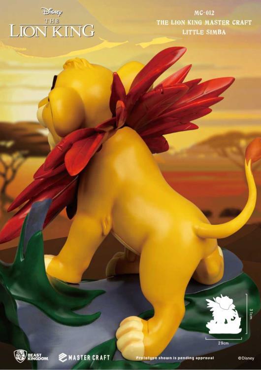 PRÉ VENDA Estátua Simba (Little Simba): O Rei Leão (The Lion King) Master Craft (MC-012) Limited Edition - Beast Kingdom