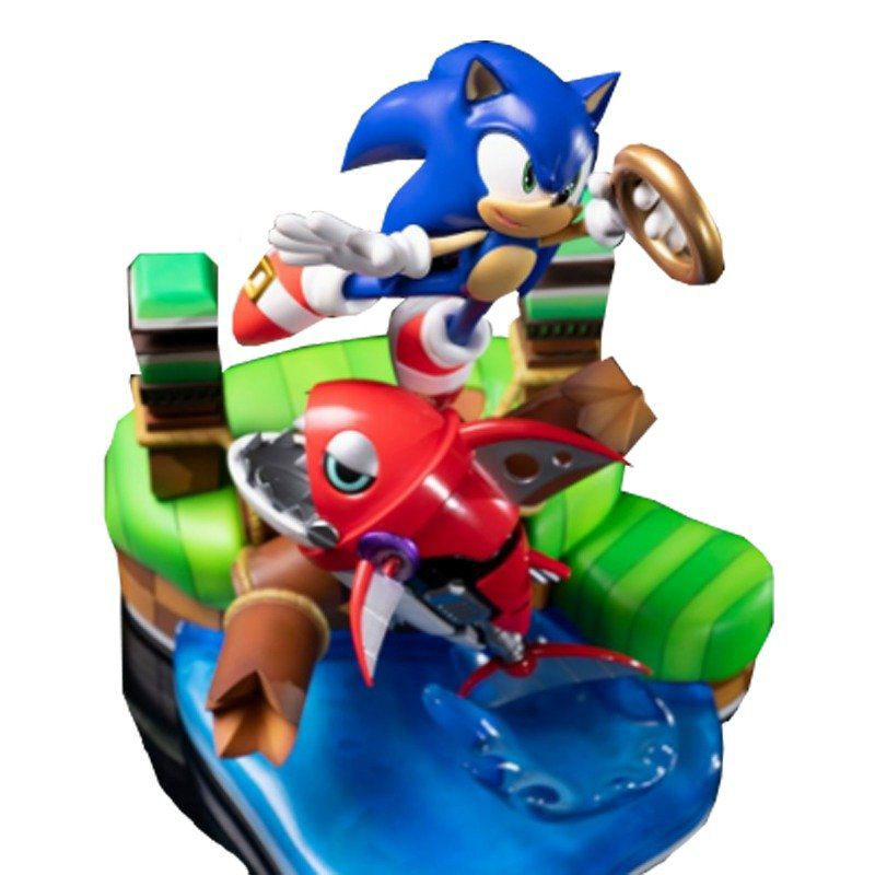 PRÉ VENDA: Estátua Sonic The Hedgehog vs Chopper (Diorama): Sonic Generations - F4F