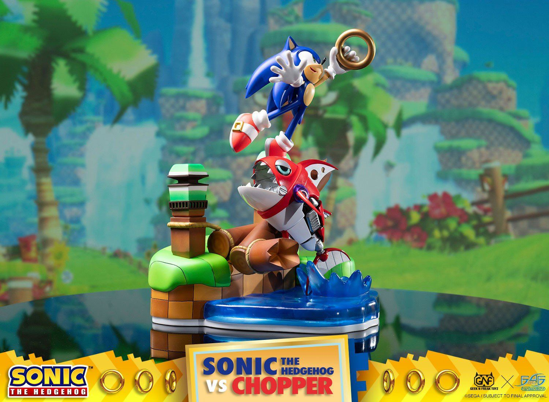 PRÉ VENDA: Estátua Sonic The Hedgehog vs Chopper (Diorama): Sonic Generations - F4F