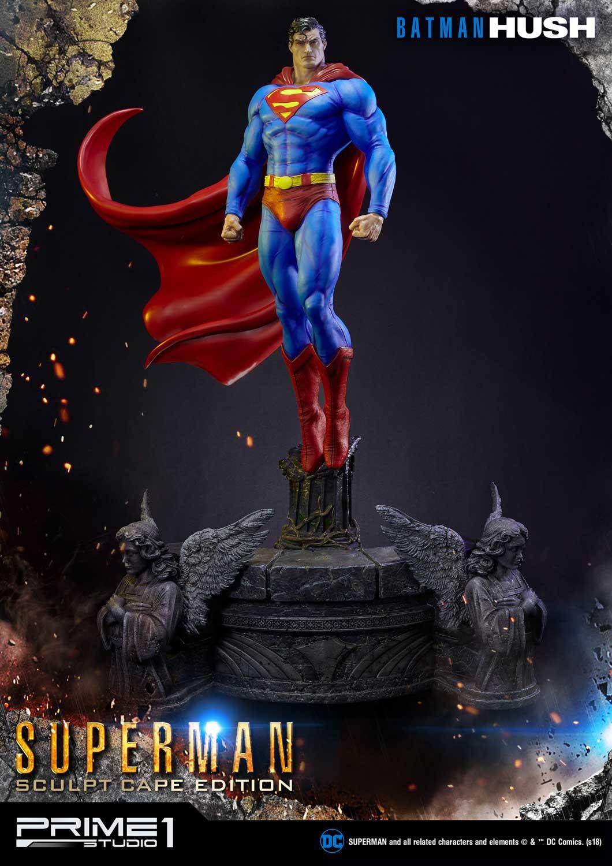 PRÉ VENDA:Estátua Super Homem Superman Sculpt Cape Edition Batman Hush (Comics) DC Comics - Prime 1 Studios