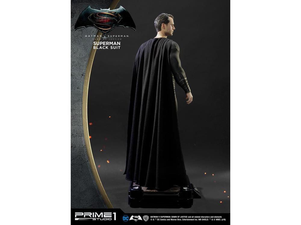 PRÉ VENDA: Estátua Superman: Batman vs Superman (Museum Masterline) Escala 1/2 (Black Suit Ver.) - Prime 1 Studio