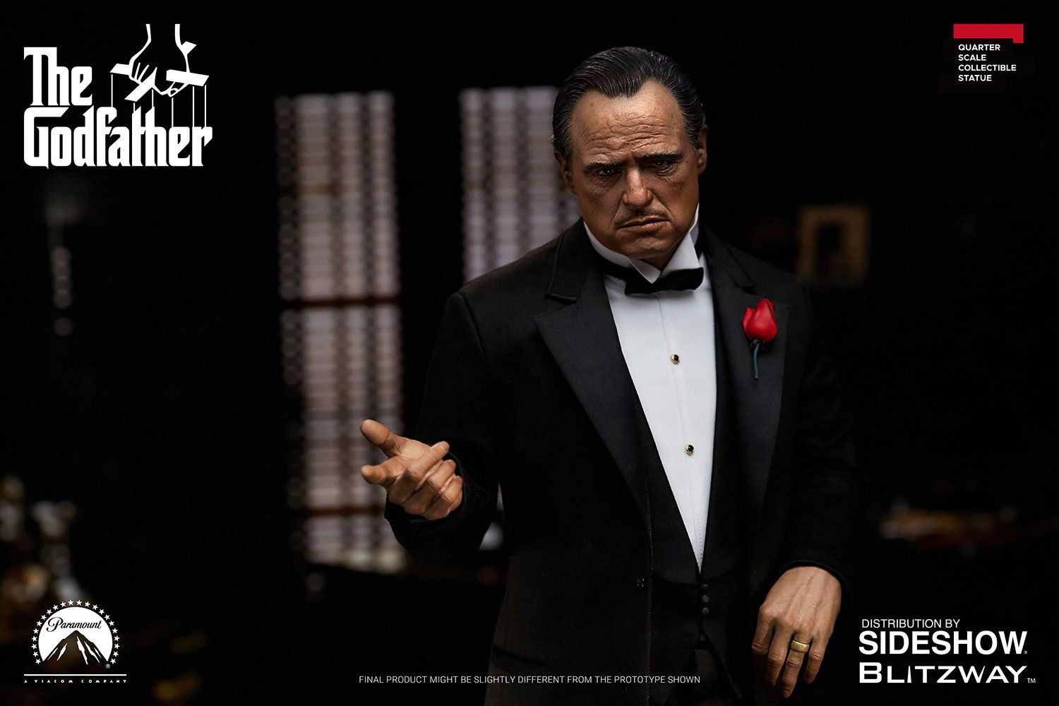 PRÉ VENDA: Estátua Vito Corleone: O Poderoso Chefão (The Godfather) Escala 1/4 - Blitzway