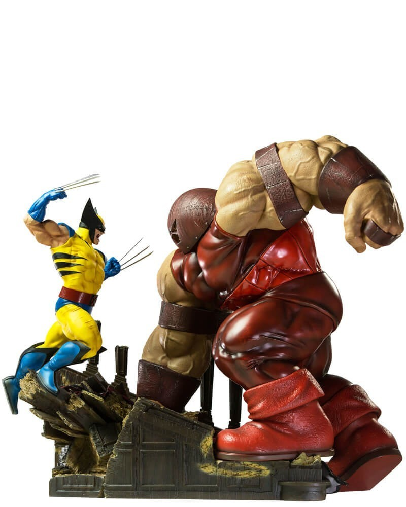 Estátua Wolverine Vs Juggernaut: Marvel Comics Battle Diorama Escala 1/6 - Iron Studios