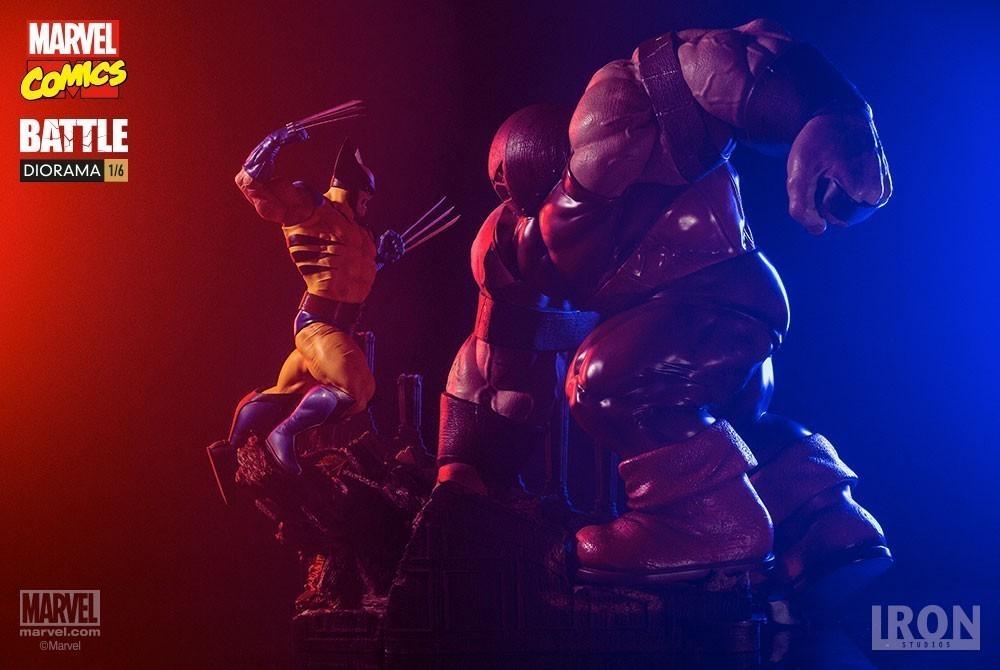 Estátua Wolverine Vs Juggernaut: Marvel Comics Battle Diorama Escala 1/6 - Iron Studios