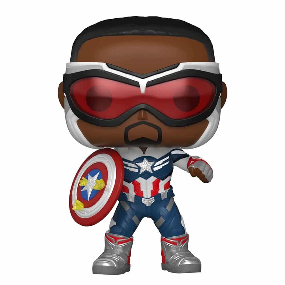 PRÉ VENDA: Funko Pop! Capitão America Com Escudo: Falcão e Soldado Invernal The Falcon and the Winter Soldier Exclusivo #818 Marvel - Funko