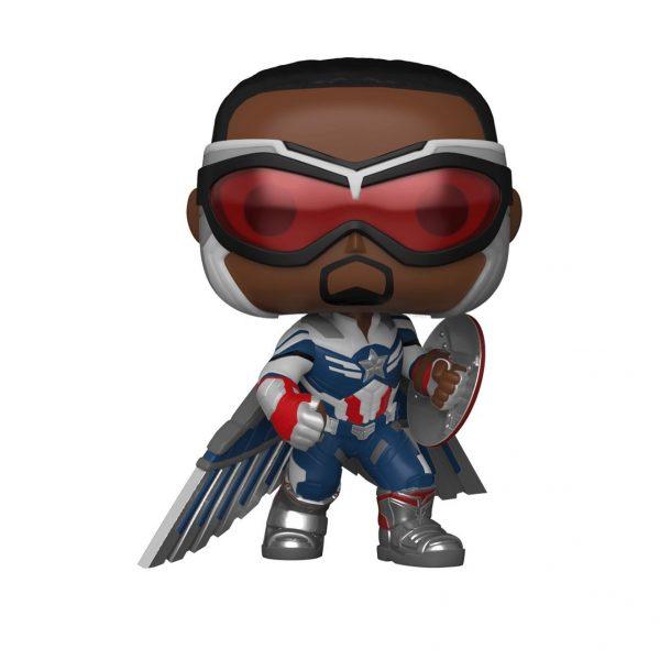 PRÉ VENDA: Funko Pop! Capitão America Pose de Ação: Falcão e Soldado Invernal The Falcon and the Winter Soldier Exclusivo #819 Marvel - Funko