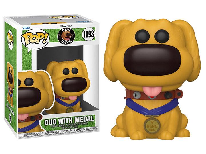 PRÉ VENDA: Funko Pop! Dug with Medal: Dug Days Disney #1093 - Funko