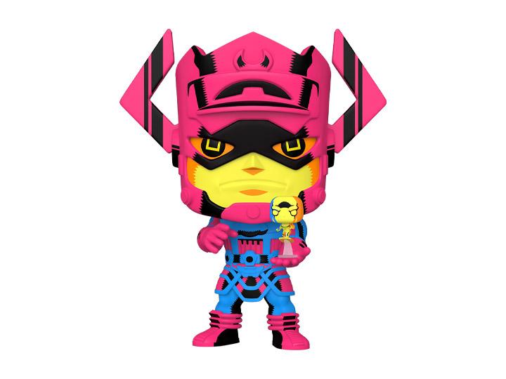 PRÉ VENDA: Funko Pop! Galactus e Surfista Pratiado: Quarteto Fantastico Marvel (Black Light Ver.) PX Previews Exclusive #809 - Funko