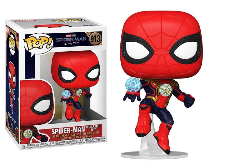 PRÉ VENDA: Funko Pop! Homem-Aranha Spider-Man (Integrated Suit): Homem-Aranha: De Volta ao Lar Spider-Man: No Way Home  #913 - Funko