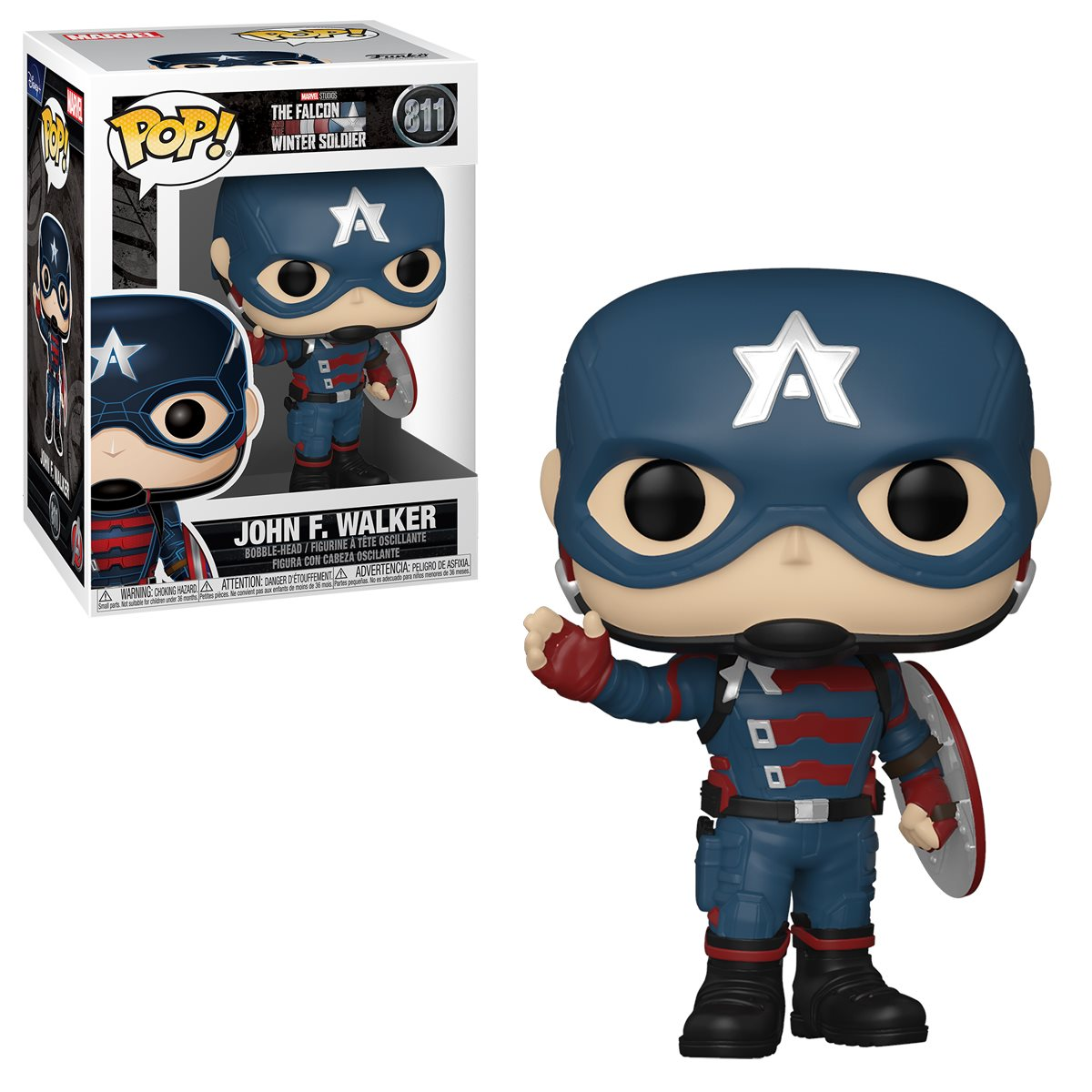 PRÉ VENDA: Funko Pop! John F. Walker: Falcão e o Soldado Invernal The Falcon and the Winter Soldier  #811 - Funko