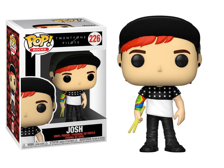 PRÉ VENDA: Funko Pop! Joshua Dun: Twenty One Pilots Rocks #226 - Funko