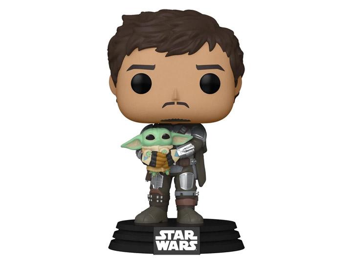 PRÉ VENDA: Funko Pop! Mando The Mandalorian With Grogu Baby Yoda: Star Wars The Mandalorian #461 - Funko