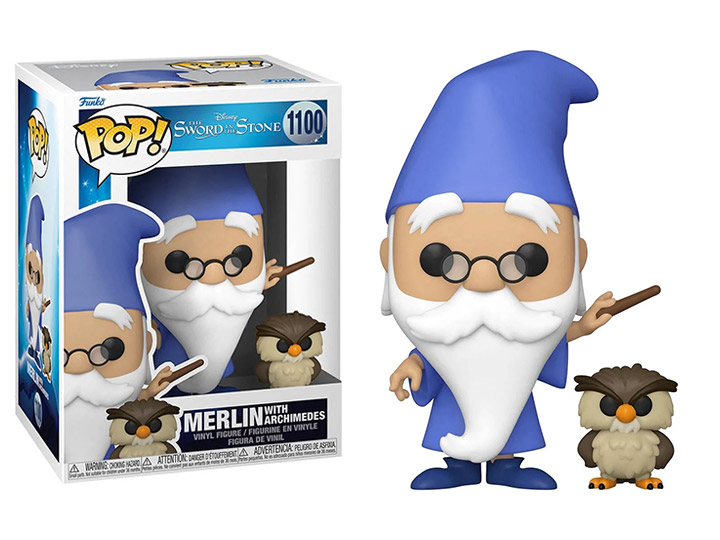 PRÉ VENDA: Funko Pop! Merlin With Archimedes: The Sword in the Stone #1100 Disney - Funko