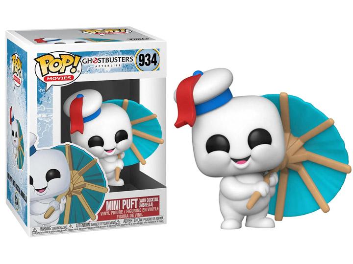 PRÉ VENDA: Funko Pop! Mini Puft with Cocktail Umbrella: Caça - Fantasma Ghostbusters - Mais Além Ghostbuster - Afterlife #934 - Funko