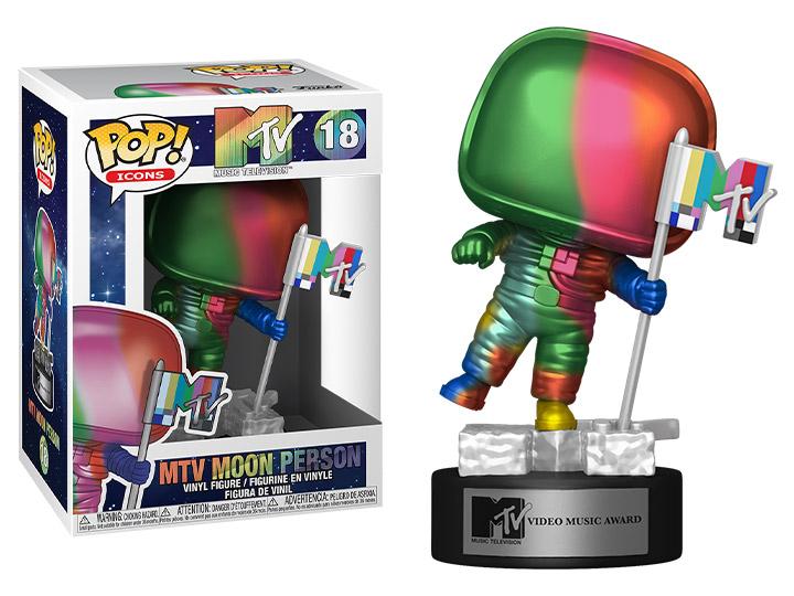 PRÉ VENDA: Funko Pop! Moon Person Rainbow: Icons: MTV #18 - Funko