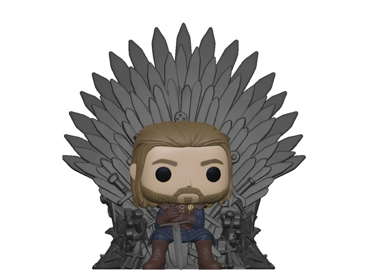 PRÉ VENDA: Funko Pop! Ned Stark no Trono de Ferro Ned Stark on Iron Throne Deluxe: Game of Thrones 10 Anos - Funko
