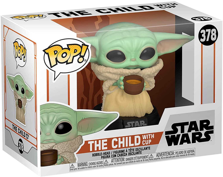 Funko Pop! Star Wars: Mandalorian - Grogu ''Baby Yoda'' com xícara #378