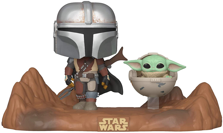 Funko Pop! Star Wars: Mandalorian - Mandaloriano com Grogu ''Baby Yoda'' #390 -  Funko